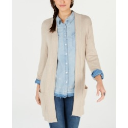Style & Co Petite Waffle Thermal Long Cardigan, Created for Macy's