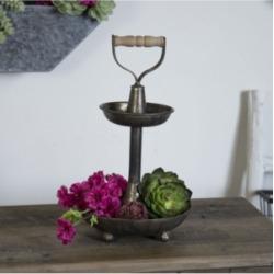 Vip Home & Garden Bronze Metal 2-Tier Tray