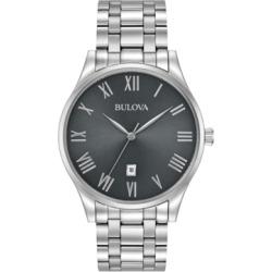 Bulova Men's Stainless Steel Bracelet Watch 40mm 96B261