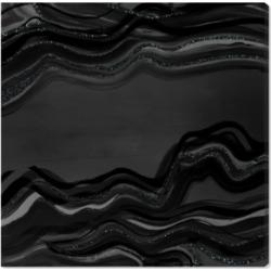 Oliver Gal Night Flow Dark Glitter Canvas Art - 12