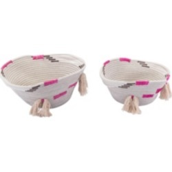 Zuo Benin Baskets with Handles, Set of 2
