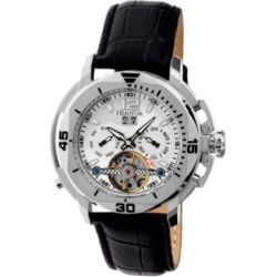 Heritor Automatic Lennon Silver Leather Watches 45mm found on Bargain Bro India from Macy's Australia for $228.42
