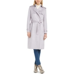 Tahari Faux-Suede Belted Trench Coat found on MODAPINS from Macy's Australia for USD $235.54