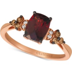 Le Vian Rhodolite Garnet (1-3/4 ct. t.w.) & Diamond (1/6 ct. t.w.) in 14k Yellow Gold (Also Available in Rose Gold)