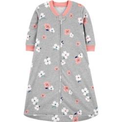 Carter's Baby Girls Floral-Print Fleece Sleep Bag
