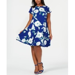 Jessica Howard Plus Size Textured Floral Fit & Flare Dress found on Bargain Bro India from Macys CA for $103.77