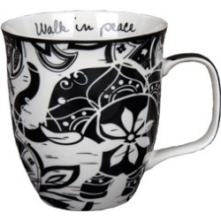 Boho Black and White Mug