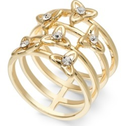 Inc Gold-Tone Pave Flower Multi-Row Stack Ring, Created for Macy's found on Bargain Bro Philippines from Macy's for $22.12