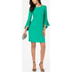Msk Rhinestone-Trim Bell-Sleeve Dress found on MODAPINS from Macy's for USD $79.00