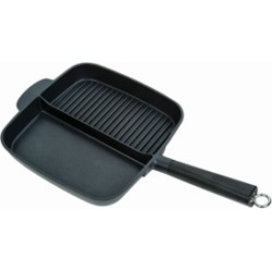 MasterPan Non-Stick 2-Section Meal Skillet, 11