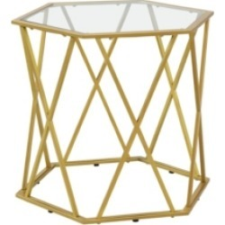 Lilly Octagonal Glass Top Accent Table found on Bargain Bro from Macy's for USD $196.84