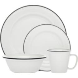Godinger Bistro Black Band 16-pc Porcelain Dinnerware Set