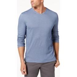 Tasso Elba Men's Supima Blend Knit V-Neck Long-Sleeve T-Shirt, Created for Macy's found on Bargain Bro Philippines from Macy's for $9.93