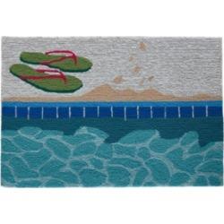 "Liora Manne Frontporch Poolside Aqua 2'6"" x 4' Area Rug"