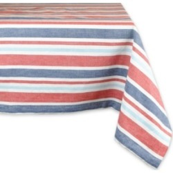 "Patriotic Stripe Tablecloth 60"" x 84"""