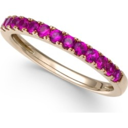 Certified Ruby Band (1/2 ct. t.w.) in 14k Rose Gold (Also Available in White Sapphire)