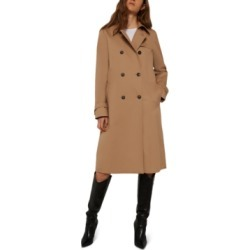 Marella Cheque Double-Breasted Trench Coat found on MODAPINS from Macy's Australia for USD $604.92