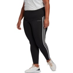 adidas Plus Size Design 2 Move 3 Stripe High-Rise Leggings found on MODAPINS from Macy's for USD $50.00