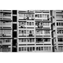 "American School Hong Kong Apartment Black and White Canvas Art - 20"" x 25"""