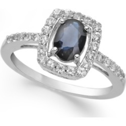Sapphire (1-3/8 ct. t.w.) and White Sapphire (1/2 ct. t.w.) Ring in Sterling Silver