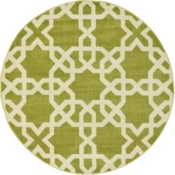 Bridgeport Home Arbor Arb5 Green 6' x 6' Round Area Rug found on Bargain Bro India from Macy's for $100.50