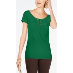 Inc Petite Lace-Up Scoop-Neck Top, Created for Macy's found on Bargain Bro India from Macy's Australia for $21.34