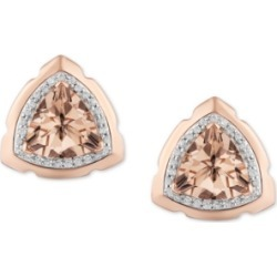 Enchanted Disney Morganite (1-3/8 ct. t.w.) & Diamond (1/10 ct. t.w.) Aurora Stud Earrings in Sterling Silver & 14k Rose Gold found on Bargain Bro India from Macy's for $700.00