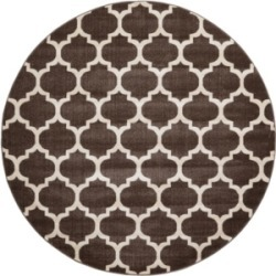 Bridgeport Home Arbor Arb1 Brown 8' x 8' Round Area Rug found on Bargain Bro India from Macy's for $250.00