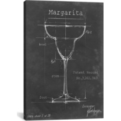 "iCanvas Barware Blueprint Vi by Ethan Harper Wrapped Canvas Print - 26"" x 18"""