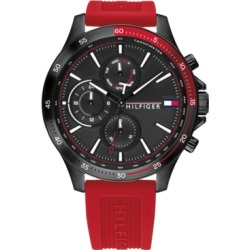 Tommy Hilfiger Men's Chronograph Red Silicone Strap Watch 46mm, Created for Macy's found on Bargain Bro Philippines from Macy's for $165.00