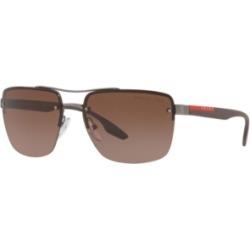 Prada Linea Rossa Polarized Sunglasses, Ps 60US 62 Lifestyle found on Bargain Bro India from Macy's for $357.00