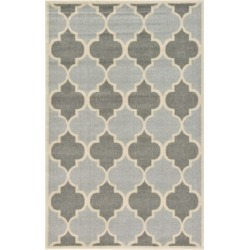 Bridgeport Home Arbor Arb7 Light Gray 5' x 8' Area Rug found on Bargain Bro India from Macy's for $111.50