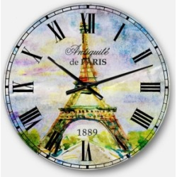 Designart Watercolor Oversized Round Metal Wall Clock found on Bargain Bro India from Macys CA for $147.61