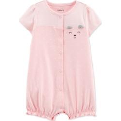 Carter's Baby Girls Dot-Print Bear Cotton Romper