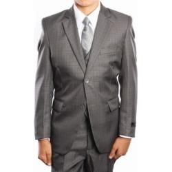 Tazio Husky Boys Glen Plaid 2 Button Front Closure Boys Suit 5 Piece