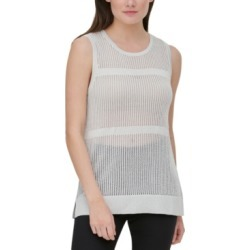 Calvin Klein Sheer Sleeveless Sweater found on MODAPINS from Macy's for USD $24.93