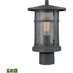 Aspen Lodge 1 Light Outdoor Post Mount in Textured Matte Black