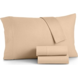 Martha Stewart Essentials Jersey 4-Pc. California King Sheet Set, Created for Macy's Bedding