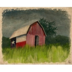 """Creative Gallery After the Storm Texas Barn 20"""" x 16"""" Canvas Wall Art Print"""