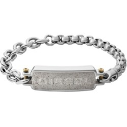 Diesel Men's Engraved Stainless Steel and Concrete Id Bracelet found on Bargain Bro India from Macy's Australia for $111.14