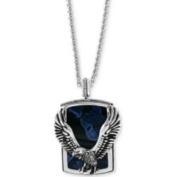"Effy Men's Pietersite Eagle 22"" Pendant Necklace in Sterling Silver"