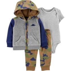 Carter's Baby Boy 3-Piece Dinosaur Little Jacket Set
