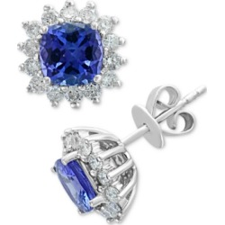Effy Tanzanite (1-9/10 ct. t.w.) & Diamond (5/8 ct. t.w.) Stud Earrings in 14k White Gold found on Bargain Bro India from Macys CA for $1775.18