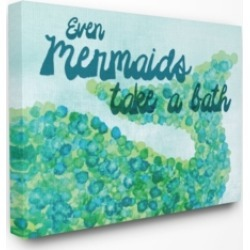 "Stupell Industries Even Mermaids Take A Bath Canvas Wall Art, 30"" x 40"""