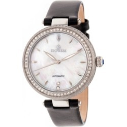 Empress Louise Automatic Black Leather Watch 36mm found on Bargain Bro India from Macy's for $319.99