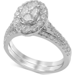 Diamond Halo Bridal Set (1-1/2 ct. t.w.) in 14k White Gold found on Bargain Bro India from Macy's Australia for $3753.09