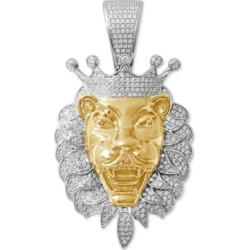 Diamond Lion Two-Tone Pendant (1 ct. t.w.) in Sterling Silver & 14k Gold-Plate found on Bargain Bro India from Macys CA for $934.08