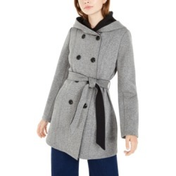 Bcx Juniors' Tweed Fleece Hooded Trench Coat found on Bargain Bro India from Macys CA for $72.47