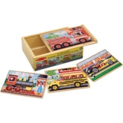 Melissa and Doug Kids Toy, Vehicle Puzzles in a Box