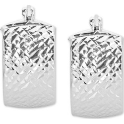 Italian Gold Textured Hoop Earrings in 14k White Gold found on Bargain Bro India from Macys CA for $373.35